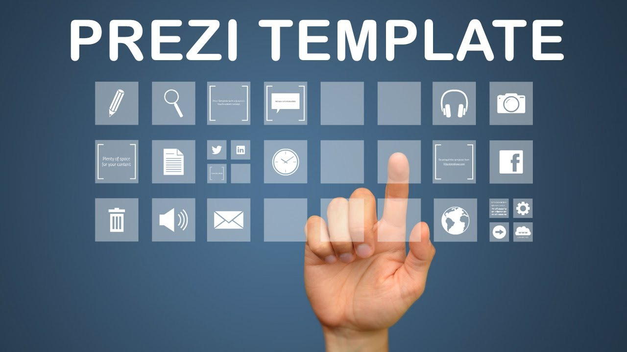 prezi template library - interactive media prezi template