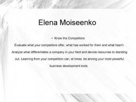 Elena Moiseenko   Improving Your Business Development